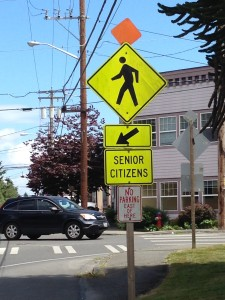 Senior citizen crossing