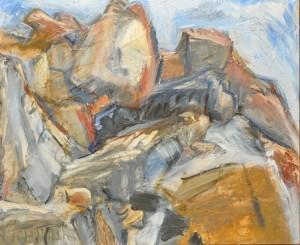 Grey Day Eagles Nest Peak by Jane Culp