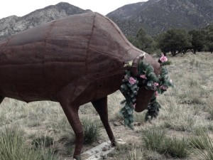 This Buffalo by Will Bartley greets visitors entering the Baca Grande.