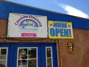 Crestone Ice Cream store, which is about to close, I was told by an owner.