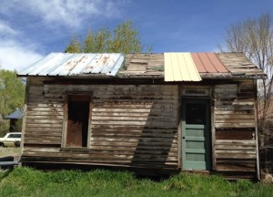A miner's house, presumably, from the mid-1800s.