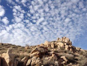The stunning desert terrain around Apple Valley, CA.
