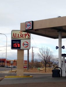 Gas $1.57 in Santa Fe, New Mexico, on Jan. 12, 2015.
