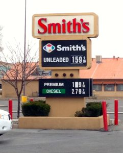 Gas $1.59 in Santa Fe, New Mexico, on Jan. 12, 2015.