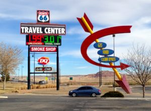 Gas $1.99 near Acoma, New Mexico, on Dec. 28, 2014.