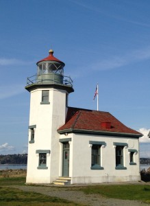 Vashon Lighthouse on the east channel of Puget Sound, across from Tacoma.