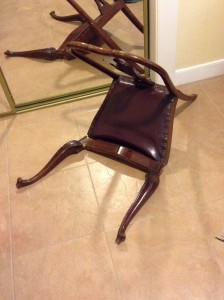 The exhausted chair
