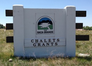 The Welcome sign for the Baca Grande