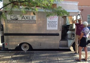 The Axle Contemporary appears at street corners and markets, feeding art to the curious and the creative.